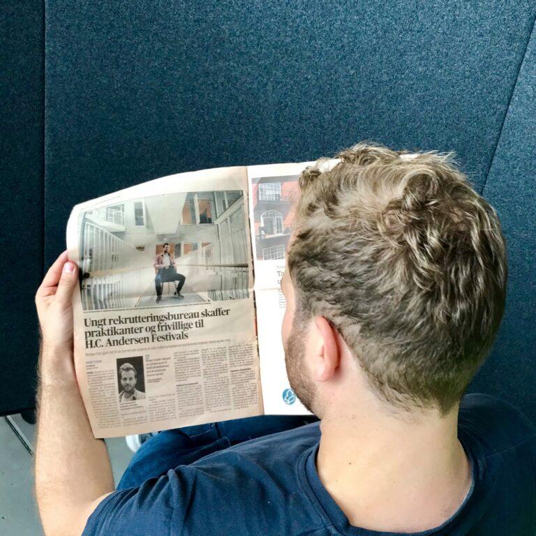 Bridger er i avisen i forbindelse med HC Andersen festivals